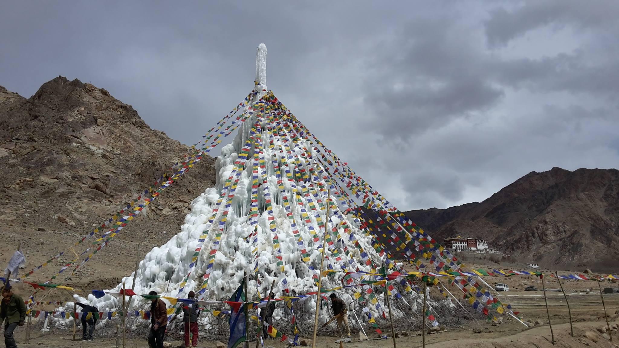 Stupa es solusi atasi krisis air di Ladkah, India