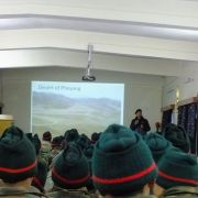 Before the soldiers came to volunteer Sonam Wangchuk visited the Regimental Centre to motivate them towards the cause.