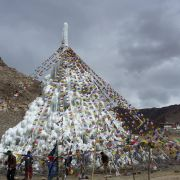 Ice Stupa on 4th of April 2015