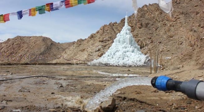 WORLD WATER DAY AT ICE STUPA